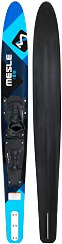 MESLE Monoski Strato 170 cm Pro Blue mit B6 Boot-Bindung, Slalom Wasser-Ski bis 100 kg, für Mono Anfänger und fortgeschrittene Fahrer, blau
