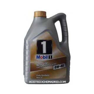 Mobil 1 Synthetisches Öl 151048 New Life – Motor (0 W-40, 5 l)