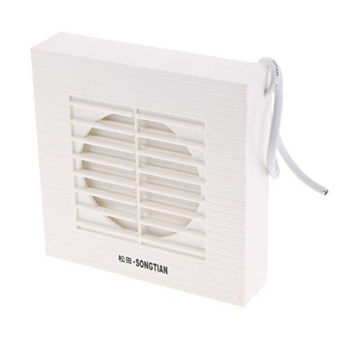 Homyl Abluftventilator Badlüfter Wandventilator Ventilator Lüfter für Bad Küche - 4 Zoll