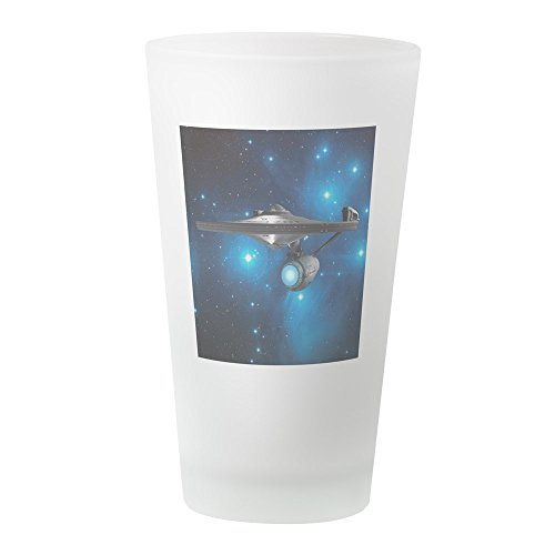 CafePress StarTrek 1701A Pleiades Pint-Glas frosted Mccoy Cup