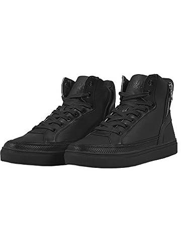 Urban Classics Zipper High Top Shoe haute pour adulte Unisexe Sneakers - Noir - Schwarz (black 7), 43