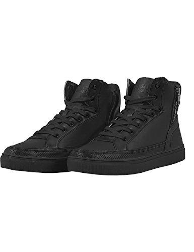 Urban Classics Zipper High Top Shoe, Baskets Basses mixte adulte Schwarz (black 7)