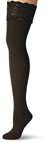 GLAMORY Damen Halterlose Strümpfe Micro 60 DEN, Schwarz (Schwarz), XX-Large (Herstellergröße: 2XL-(52-54))