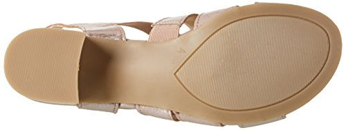 Caprice 28200, Sandales Bout Ouvert Femme Rose (Rose Metallic)