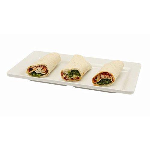 Genware nev-mel13-wt piatto da portata, 32cm x 17.5cm, melamina bianca