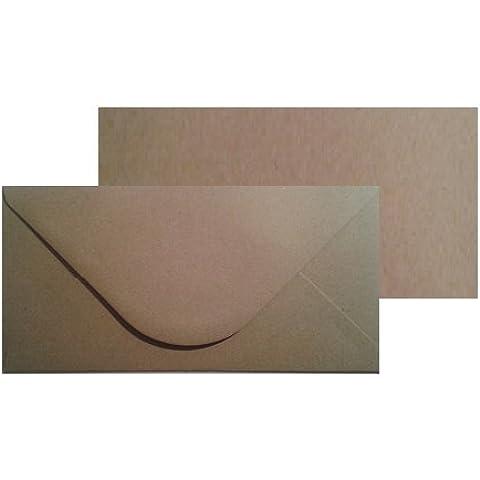 Todokraft - Lote de 50 tarjetas y sobres de papel kraft reciclado (110 x 220 mm)