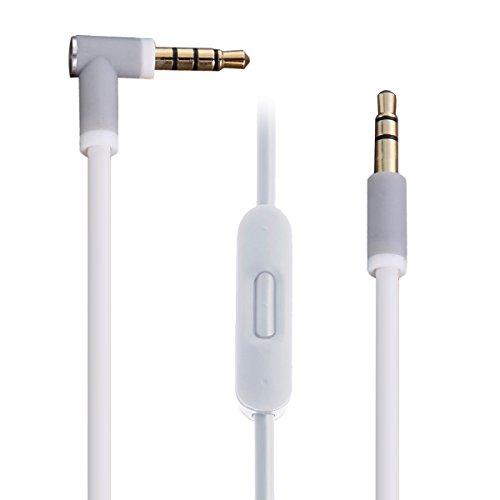 Câble Jack Audio,vanpower Cordon de câble Audio de 3,5 mm avec Commande de Volume pour Beats Solo HD Studio Pro Mixr