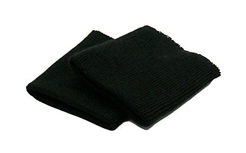 Haberdashery Online 2 puños elásticos para ropa color Negro. Ideales para rematar todas tus prendas. REF. PUNO1-ES