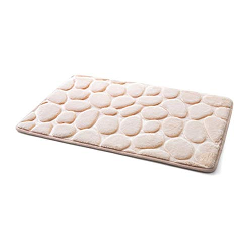 ZRDY Coral Fleece Bad Memory Foam Teppich Kit WC Bad rutschfeste Matten Boden Teppich Set Matratze for Badezimmer Dekor 40x60cm (Color : Light tan)