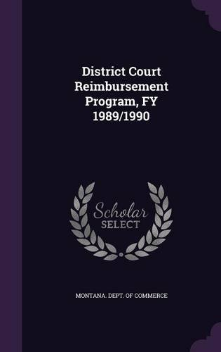 District Court Reimbursement Program, FY 1989/1990