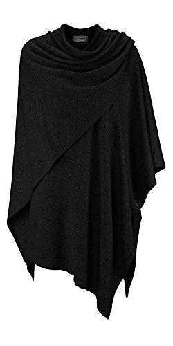 Winter Pullover Sweatshirt (Cashmere Dreams Poncho-Schal mit Kaschmir - Hochwertiges Cape für Damen - XXL Umhängetuch und Tunika mit Ärmel - Strick-Pullover - Sweatshirt - Stola für Sommer und Winter Zwillingsherz - swr)