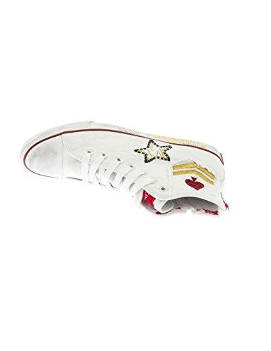 REPLAY Sneaker Garnett Patch Bianco Bianco