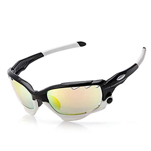 Aeici Sportbrille TPU+PC Sportbrille Herren Wechselgläser Fahrradbrille Sehstärke Stil 9