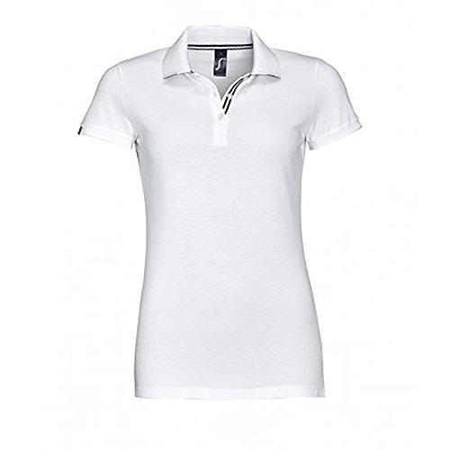 SOLS Damen Patriot Baumwoll-Pique Kurzarm Polo Shirt Königsblau