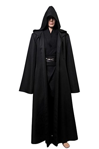 walker Cosplay Kostüm Kleidung Schwarz Version L (Skywalker Kostüm)