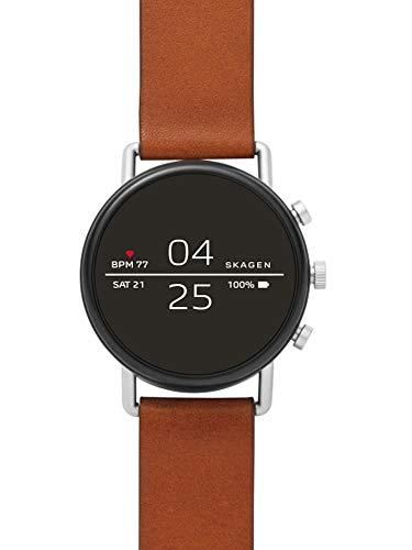Skagen Herren-Smartwatch mit Leder Armband SKT5104
