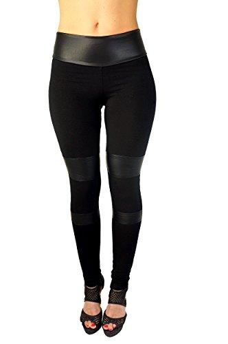 berry-leggings-mujer-schwarz-mit-kunstleder-einstzen-s-38