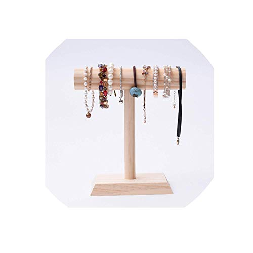 Bowen Jimmy Wood Necklace Chain Display Holder Jewelry Display Riser Bracelets Display Stand,Lowtype,Hightype