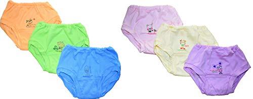NammaBaby Baby's Cotton Tinchuk Ultra Soft Printed Bloomer Panties (Blue, 4-5 Years) Set of 6