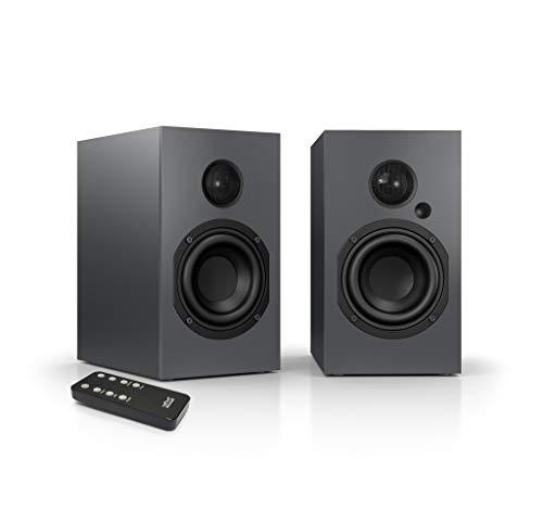 Nubert nuBox A-125 Regallautsprecher  Lautsprecher für Musikgenuss  Heimkino & HiFi Qualität auf hohem Niveau  aktive Regalboxen mit 2 Wege Technik  digitales Kompaktlautsprecherset Graphit  2 Stück