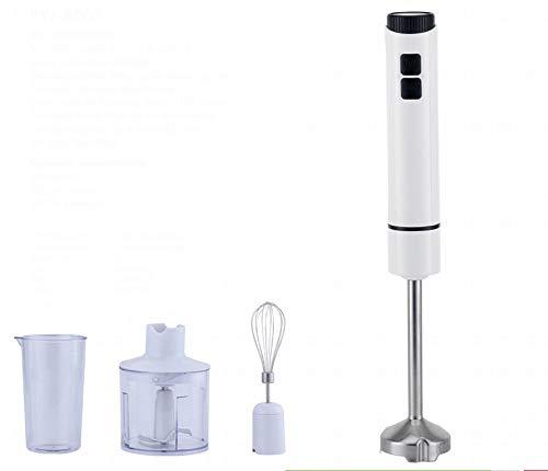 Wjsw 400 W Mixeur Plongeant Électrique,Multifonctionnel 4-En-1 Main Blender, Hachoir Presse-Agrumes Lames En Acier Inoxydable Fouet