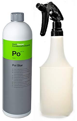 Koch Chemie Pol Star Leder und Textilreiniger - Polsterreiniger Innenreiniger Set mit Atom Sprühflasche 1l leer