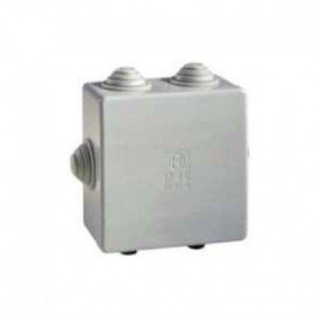 boite de dérivation - a tétines - 80 x 80 x 40 mm - gris - boite étanche - iboco 05533
