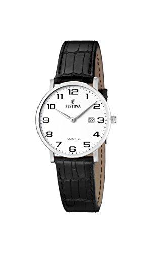 FESTINA F16477/1 - Reloj de mujer de cuarzo, correa de piel color negro