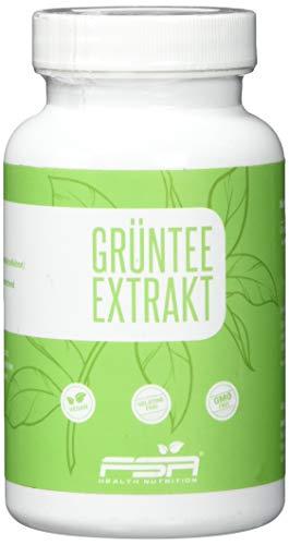 Grüner Tee Extrakt 90 Kapseln, 500 mg pro Kapsel, 50% EGCG, Vegan - Made in Germany - FSA Nutrition