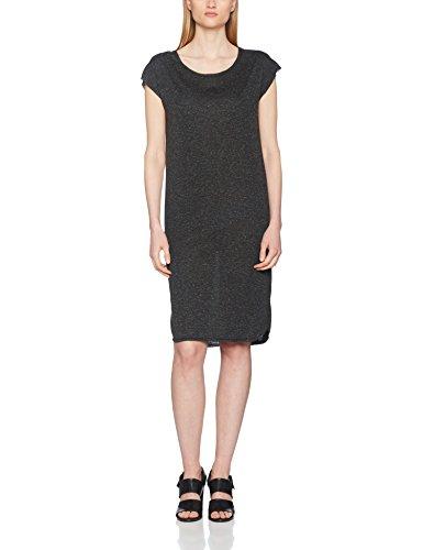 SELECTED FEMME Sfivy Ss Knee Dress, Vestito Donna Nero (Black Black)