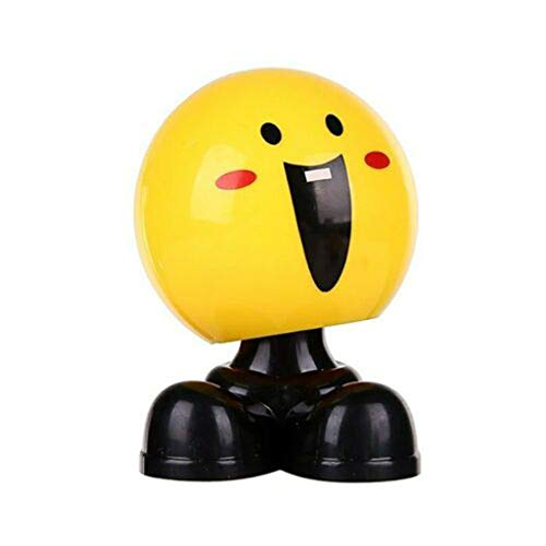 Auto Ornamente, Tanzen Spielzeug ABS Lustige Emoji Schütteln Kopf Puppen Auto Armaturenbrett Dekoration Kreative Decor Spielzeug Netter lustiger Ausdruck Verzierungs Dekorations Spielzeug - Auto-ausdrücke Vent