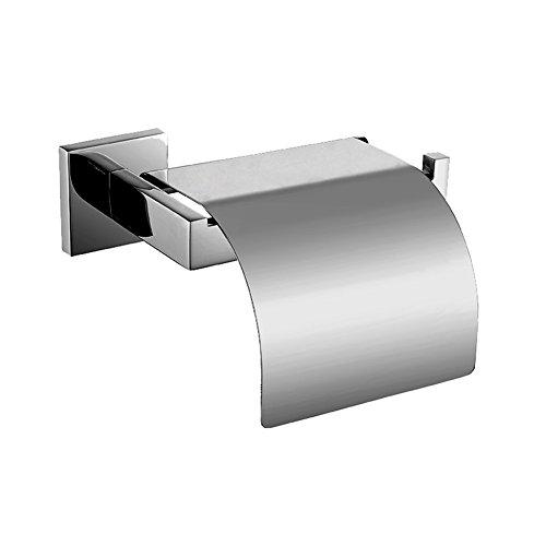 Fontic 304 Edelstahl Klopapierhalter Verchromt Toilettenpapierhalter  Wandhalter Für Badzimmer WC Papierhalter Mit Deckel