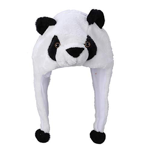 BESTOYARD Panda Party Hut Halloween Tier Hut Plüsch Winter Ski Aviator Stil Hut Cartoon Earflap Cap Hood für Kinder Erwachsene