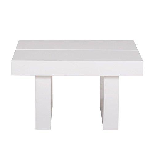 Paris Prix - Temahome - Table D'appoint 62cm Tokyo Blanc Brillant