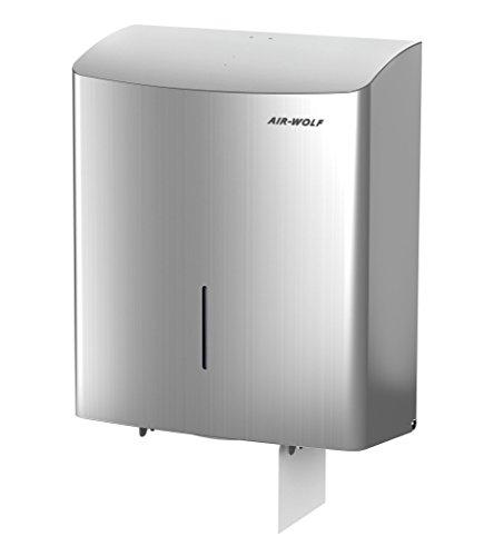 Duplex-Toilettenpapierspender - für 1 Großrolle oder 3 Haushaltsrollen - Edelstahl gebürstet -
