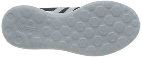 adidas Lite Racer, Baskets Basses Femme, Fuchsia, EU Bleu (Collegiate Navy/Ftwr White/Blue)