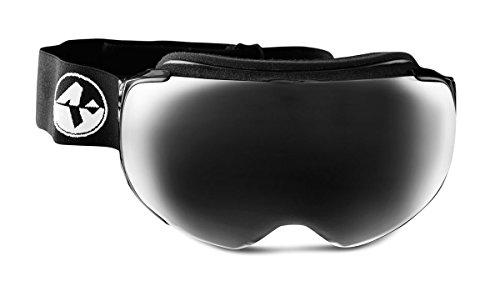 NAKED Optics FORCE | Verspiegelte Ski-Brille mit Magnetisch-Tauschbaren Gläsern | Anti-Fog Beschichtung | kratzfestes Glas | 100% UV-Schutz | Für Herren und Damen | Gratis Brillen-Etui