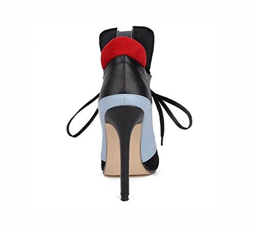Les nouvelles Mme chaussures à talons hauts avec des talons minces sandales chaussures sandales tête de poisson leggings 39