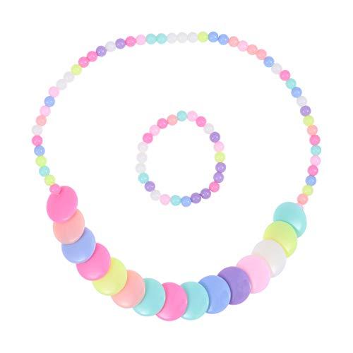 BESTOYARD Mädchen Blume Halskette Armband Prinzessin Kinder Schmuck Set Nette Candy Farbe Cosplay Kostüm Zubehör für Mädchen - Lollipop Mädchen Kostüm