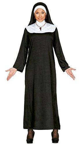 Kostüm Suora - Fiestas Guirca das Einkommen Nonne Kostüm mit Nonne Outfit Kleid Hut