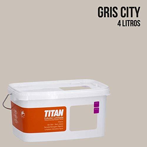 Pintura Colores Titan Edición Limitada - Gris City 4 L