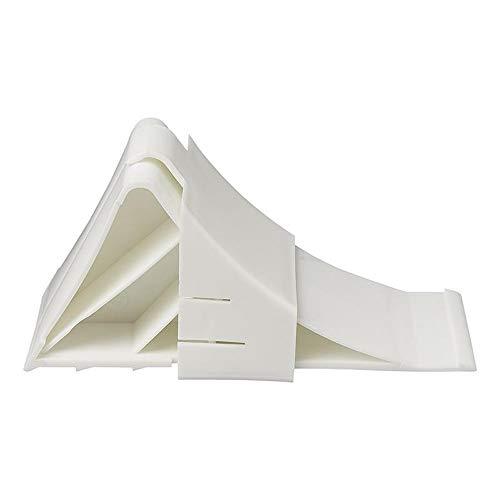 ProPlus 341343WH Unterlegkeil Kunststoff inklusive Halter, Farbe weiß