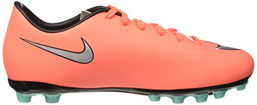 Nike Mercurial Victory V Ag, Chaussures de Football Entrainement Mixte Enfant Orange (Bright Mango/Metallic Silver/Hyper Turquoise)