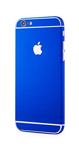 Apple iPhone 6s, iPhone 6 rundum Schutzfolie Metallic Style Alu Optik Skin Glamour Sticker in blau von PhoneStar