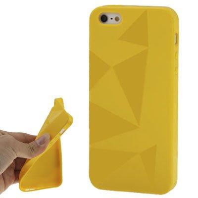 "Coque/iPhone 5/5S en silicone jaune style ""Triangle-Original seulement de thesmartguard"