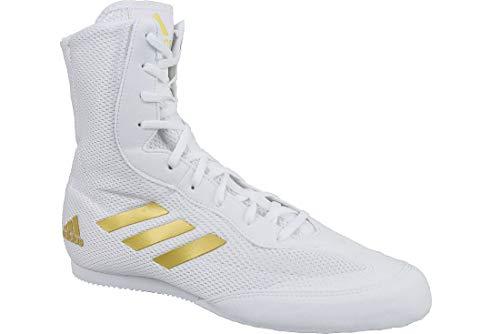 adidas Herren Box Hog Plus Boxschuhe, Mehrfarbig Weiß/Gold, 44 EU - Boxing Schuhe Weiß