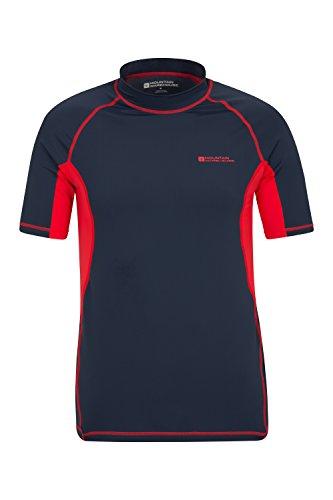 Mountain Warehouse Camiseta Térmica con Protección Solar UV para Hombre - Camiseta Térmica con Protección Solar UV UPF50+, Top Térmico de Secado Rápido, Costuras Planas Azul Marino X-Small