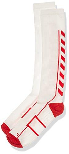 Hummel Socken Tech Indoor Sock High, White/True Red, 12, 21-075-9402 12 High Socken