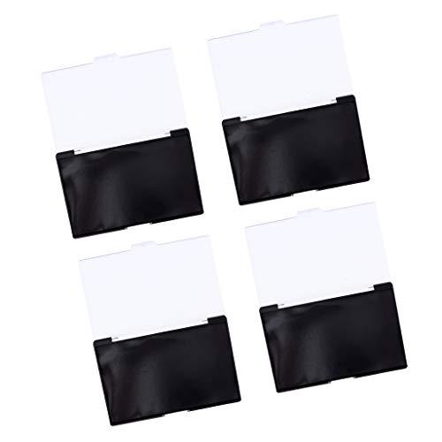 Homyl 4 Stück Magnetische Leere Kosmetik Palette Magnet Makeup Pfannen, für DIY Lidschatten und...