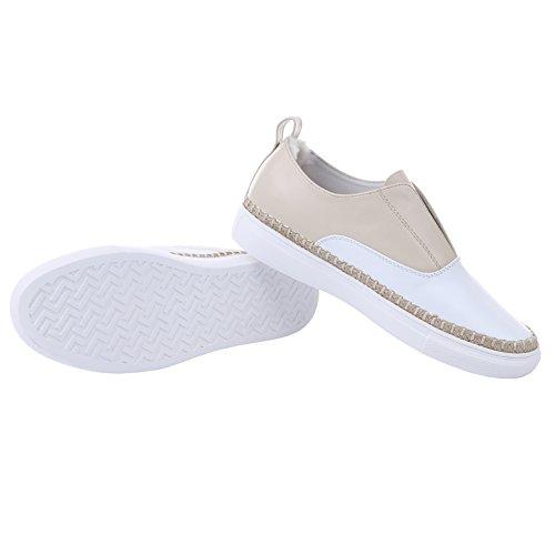 AIJIAER Autunno della molla comode scarpe da ginnastica morbida pelle donna 2052 Beige